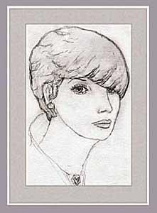 Zeichnung einer isais dame